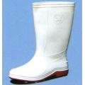 A299WH รองเท้าบู๊ทพีวีซี กันลื่น สีขาว สูง 12.6 นิ้ว พื้นยางดิบ