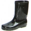 A49BK รองเท้าบู๊ทยาง สีดำ สูง 10 นิ้ว  (พีวีซี)
