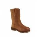 FWIA293115BR รองเท้าบู๊ท หนังสีน้ำตาล เสริมพื้นสแตนเลส ยี่ห้อ Krushers รุ่น MT ISA