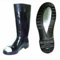 TWS160 รองเท้าบู๊ทยางพื้นเสริมเหล็กสีดำ สูง 15นิ้ว
