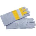 SPE-Gloves/L  ถุงมือหนังเสริมผ้ากันไฟสีเหลือง