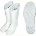 TWWC160 รองเท้าบู๊ทยางมีผ้าซับ สีขาว 15 นิ้ว