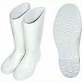 TWW100 รองเท้าบู๊ทยางไม่มีผ้าซับสีขาว สูง10 นิ้ว