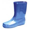 A49B รองเท้าบู๊ทยาง สีน้ำเงิน สูง 10 นิ้ว (พีวีซี)