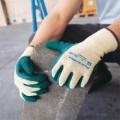 80-100 Ansell-Powerflex ถุงมือถักเคลือบยางสีเขียว  General Purpose Gloves