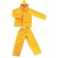 WSCLPVC01 ชุดป้องกันสารเคมีพีวีซีโพลีเอสเตอร์ เสื้อ กางเกงพร้อมฮู๊ด