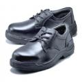 KR600 รองเท้านิรภัย  หุ้มส้นสีดำ หัวเหล็ก พื้นเหล็ก