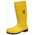 KV20YX รองเท้าบู๊ทพีวีซี KING  สีเหลือง หัวเหล็ก