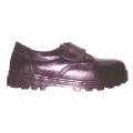 PE12 รองเท้าหัวเหล็กหุ้มส้น ติดเวลโกรเทป สีดำ