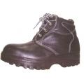PEU4 รองเท้านิรภัยหุ้มข้อหนังอัดลาย