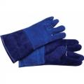 WGL05 ถุงมือหนังท้องสีน้ำเงินเสริมซับใน